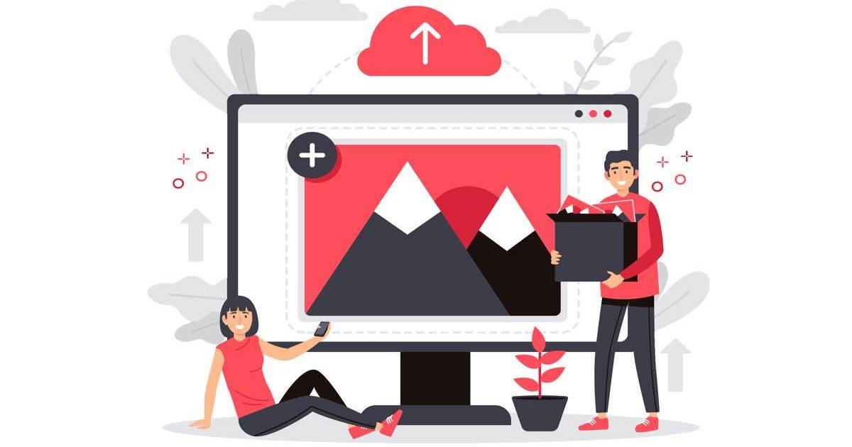 Ilustración que representa la optimización SEO de las imágenes de una web