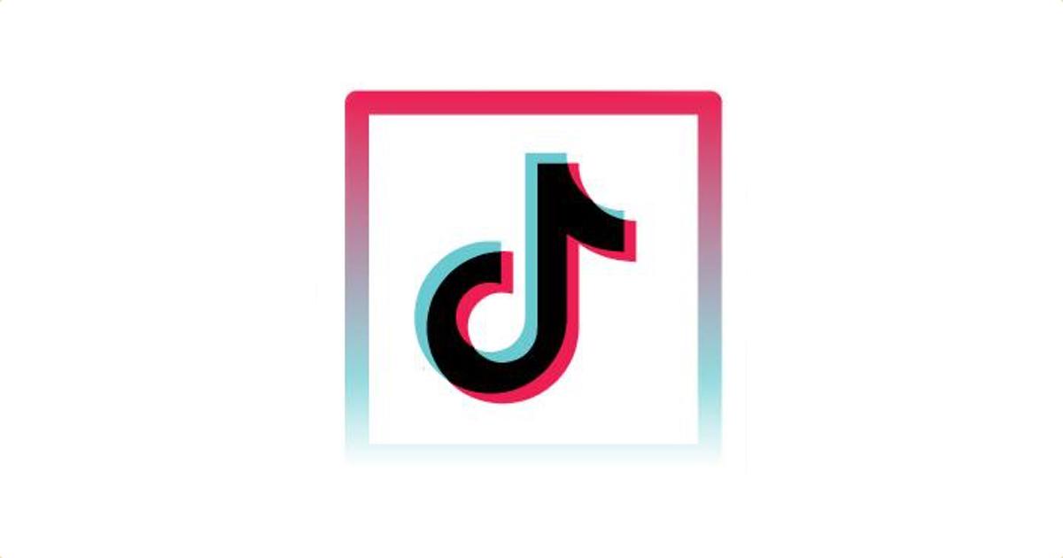 Logotipo de TikTok sobre fondo blanco