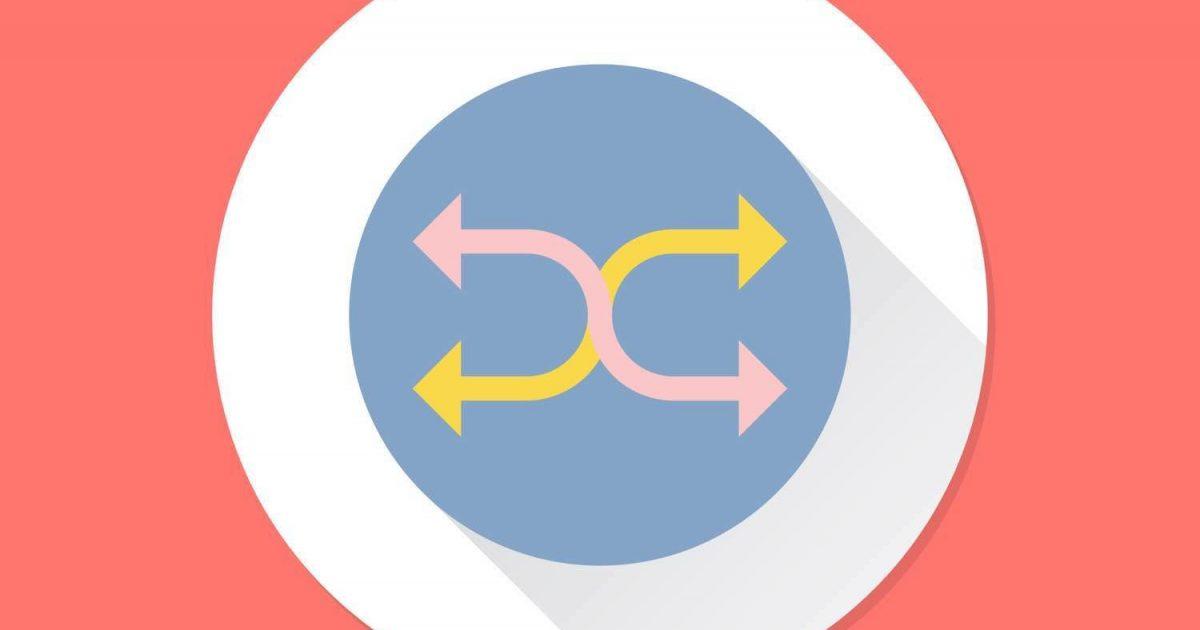 Ilustración con símbolo de redirección.