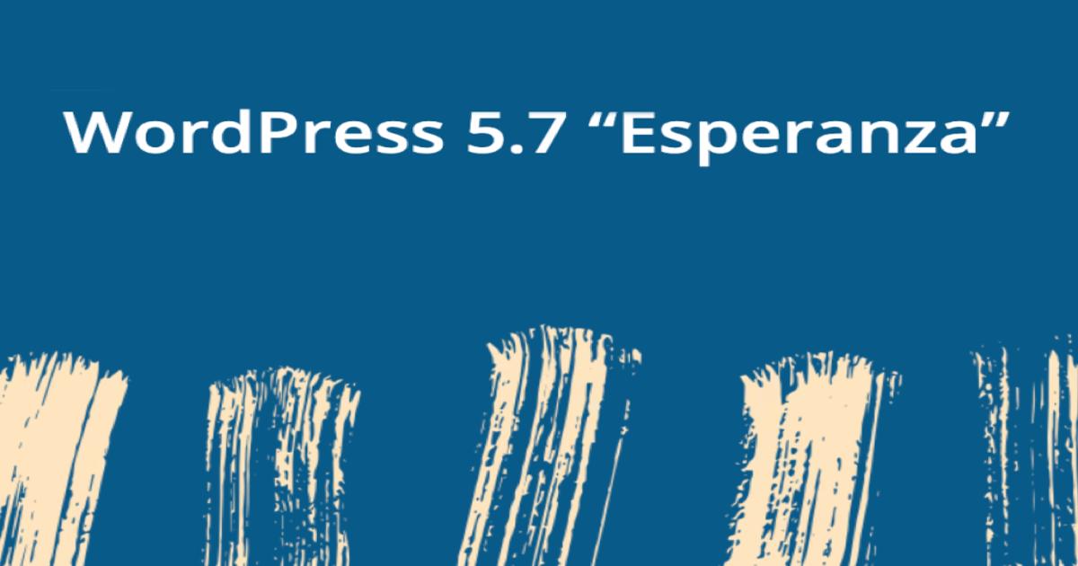 Imagen oficial del lanzamiento de WordPress 5.7 Esperanza.