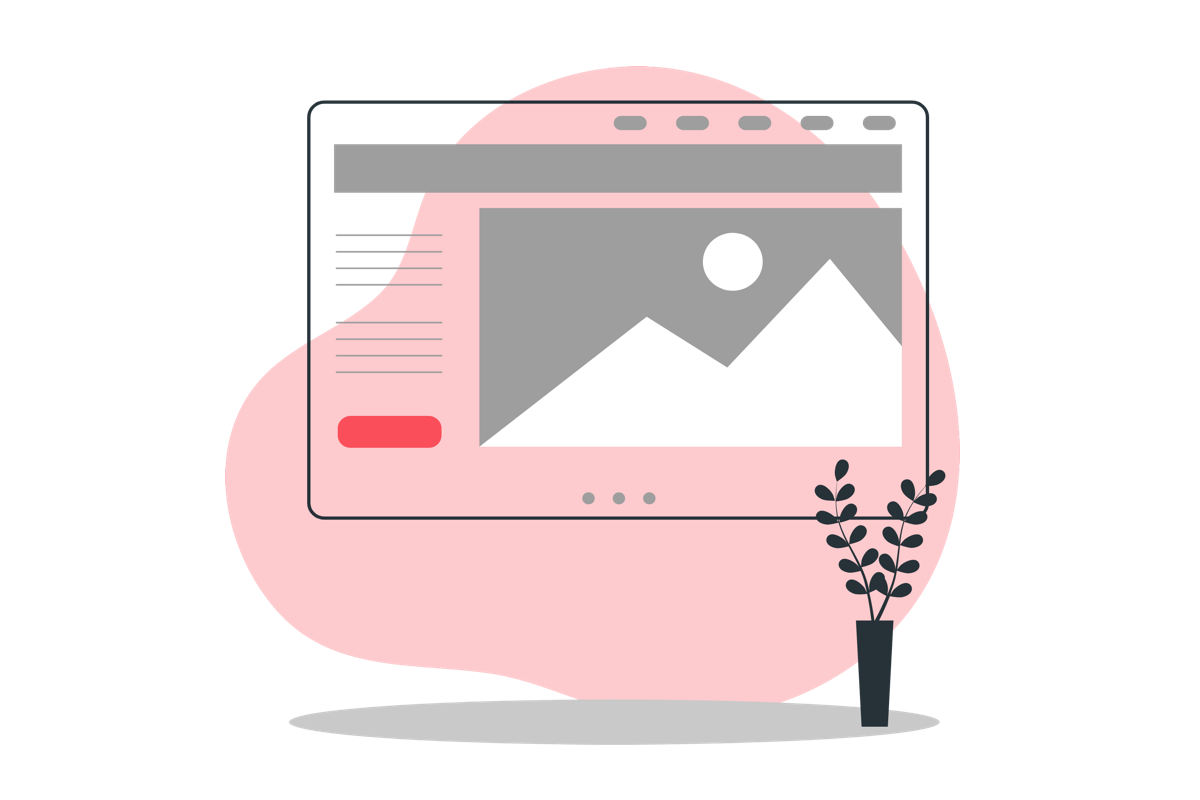Ilustración de una pantalla con la ventana del explorador en pantalla completa