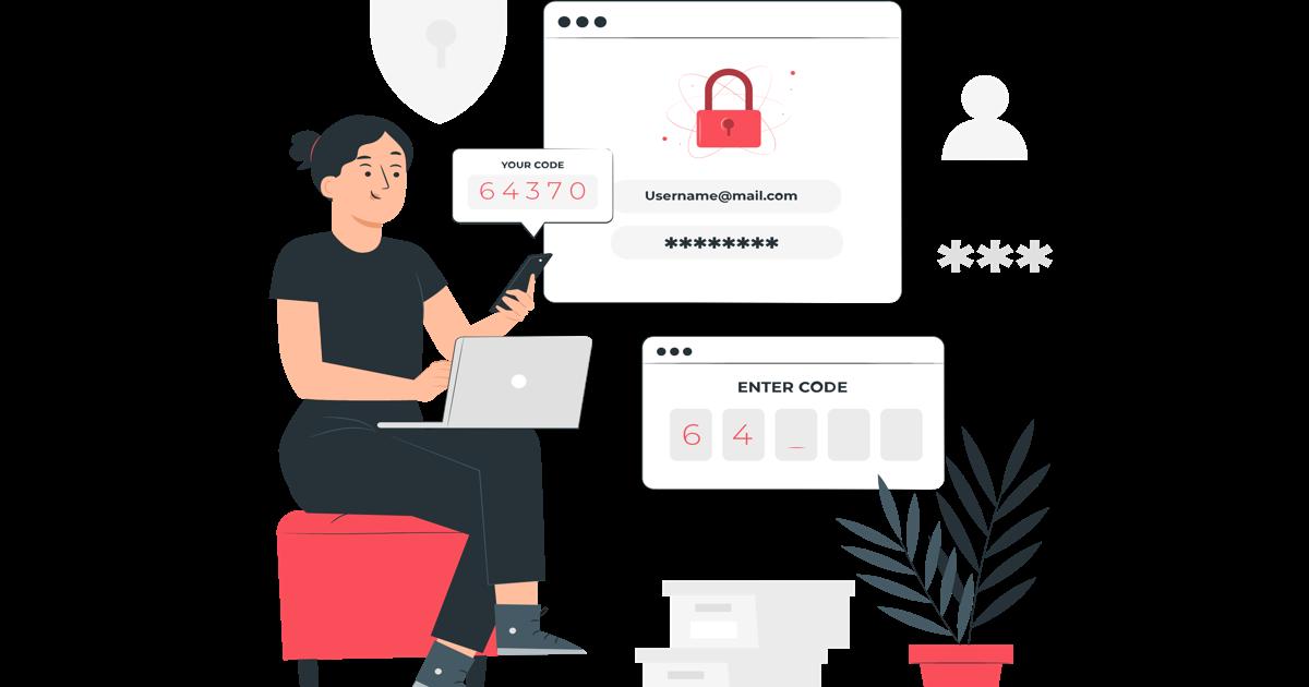 Mujer colocando el código de verificacion de dos pasos en su teléfono móvil para acceder a su sitio web