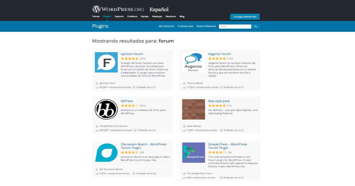Ejemplos de plugins para crear un foro en tu web de WordPress