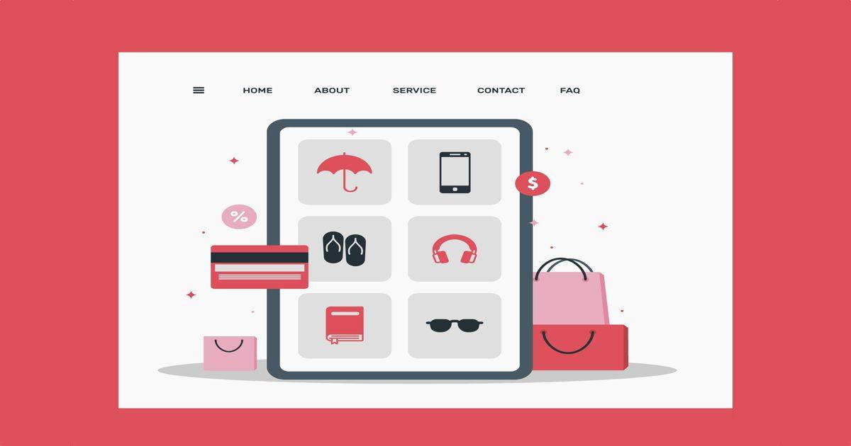 Página de portada de un ecommerce
