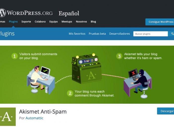 Imagen del plugin Akismet perteneciente al repositorio de WordPress