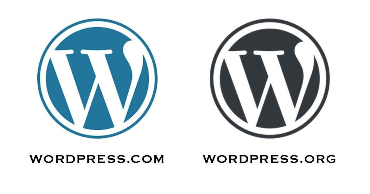Logotipos de wordpress.com y wordpress.org