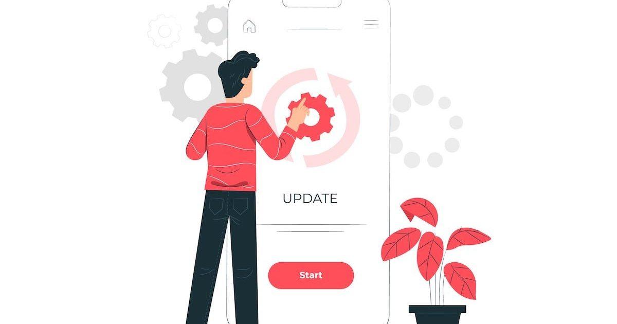 Icono donde aparece una pantalla con actualización en marcha
