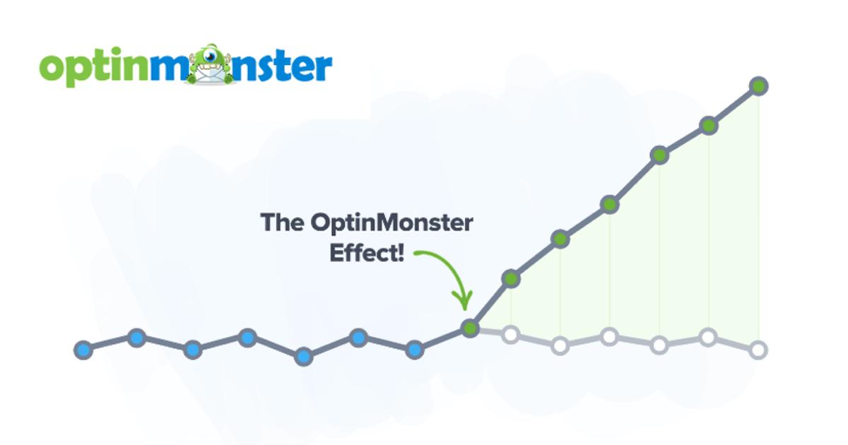 Gráfico creciente sobre la mejora de tu negocio gracias a la gestión de leads de OptinMonster