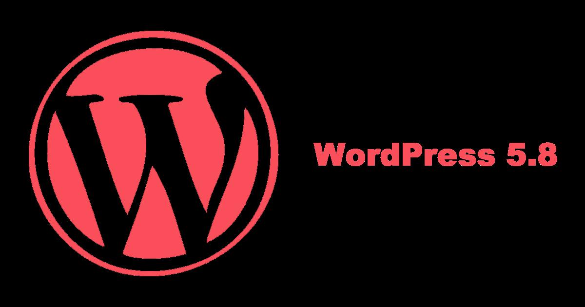 Logotipo de WordPress 5.8