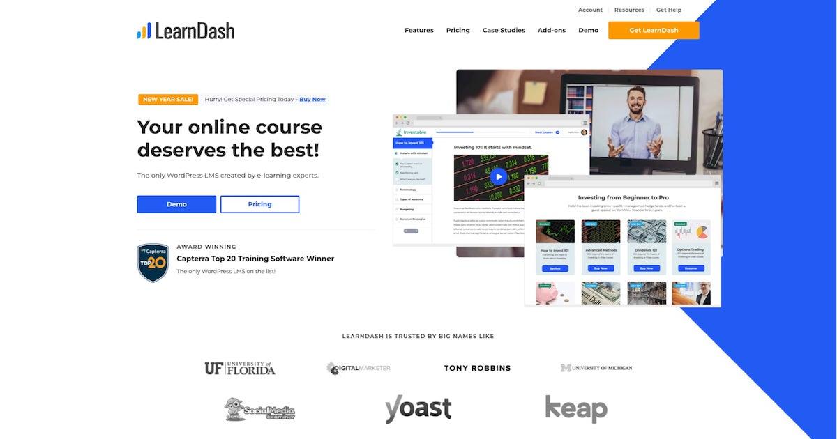 Imagen extraída de la página web oficial de LearnDash