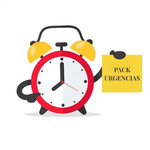 despertador con cartel de pack urgencias